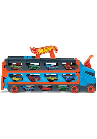 Hot Wheels Spielzeug-Transporter »2-in-1 Rennbahn-Transporter«, mit drei Hot Wheels... kaufen