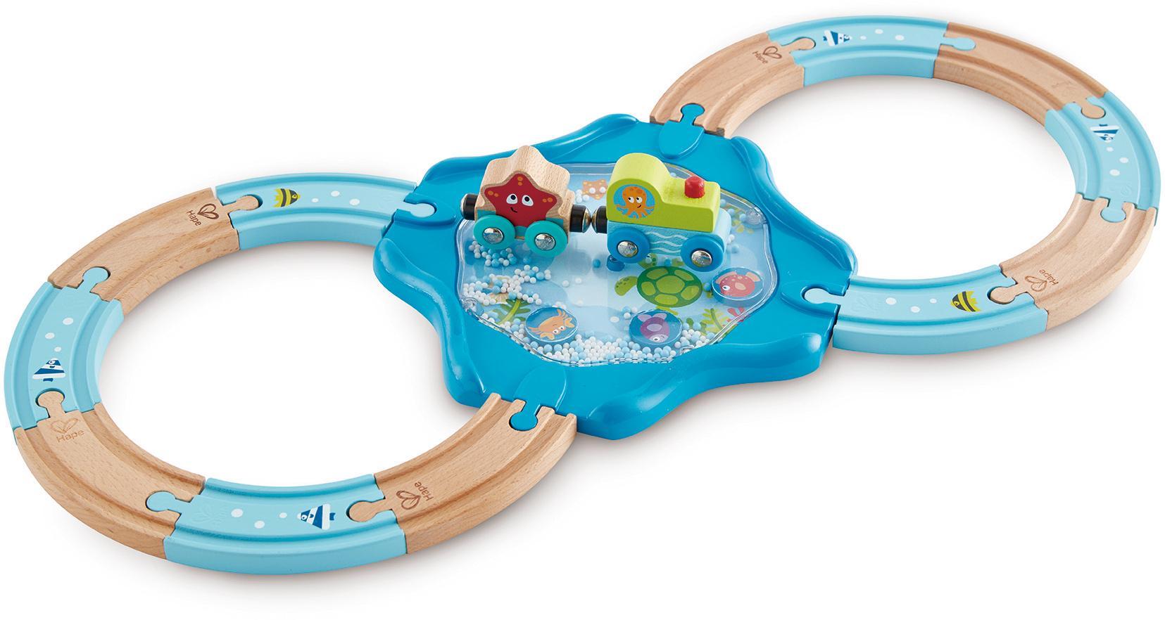 Hape Spielzeug-Eisenbahn Holzschienen Unterwasserwelt blau Kinder Kindereisenbahnen Autos, Eisenbahn Modellbau