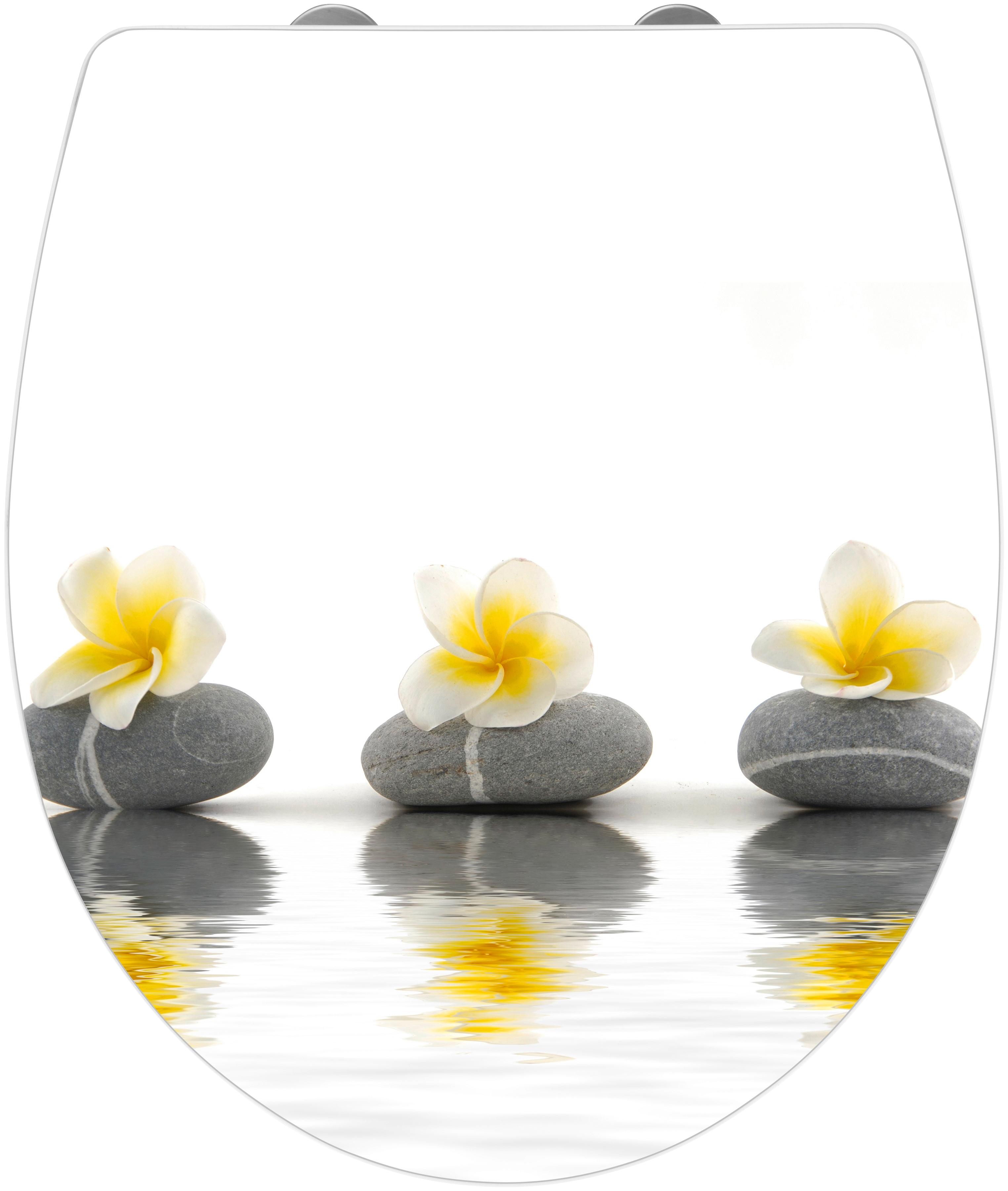 wenko wc sitz stones with flower mit absenkautomatik per rechnung baur. Black Bedroom Furniture Sets. Home Design Ideas