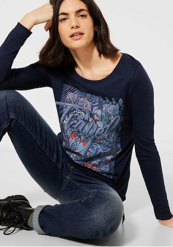 Cecil 3/4-Arm-Shirt »Travel Love«, mit Ziernaht kaufen