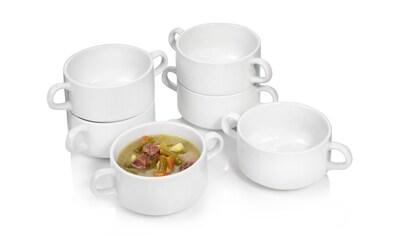 SÄNGER Kombiservice »Bianco«, (6 tlg., Suppenschüssel Set aus Porzellan 6 teilig) kaufen