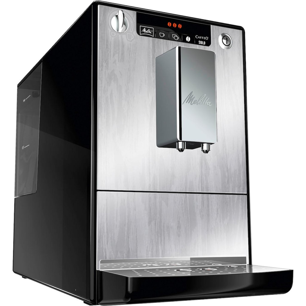 Melitta Kaffeevollautomat Solo Organic Silver E 950-111, 1,2l Tank, Kegelmahlwerk