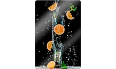 Wall-Art Glasbild »Belenko - Splashing Lemonade«, in 3 Größen kaufen
