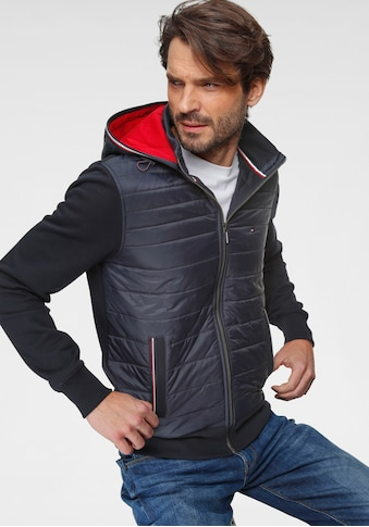 TOMMY HILFIGER Kapuzensweatjacke »MIXED MEDIA HOODED ZIP THROUGH« kaufen