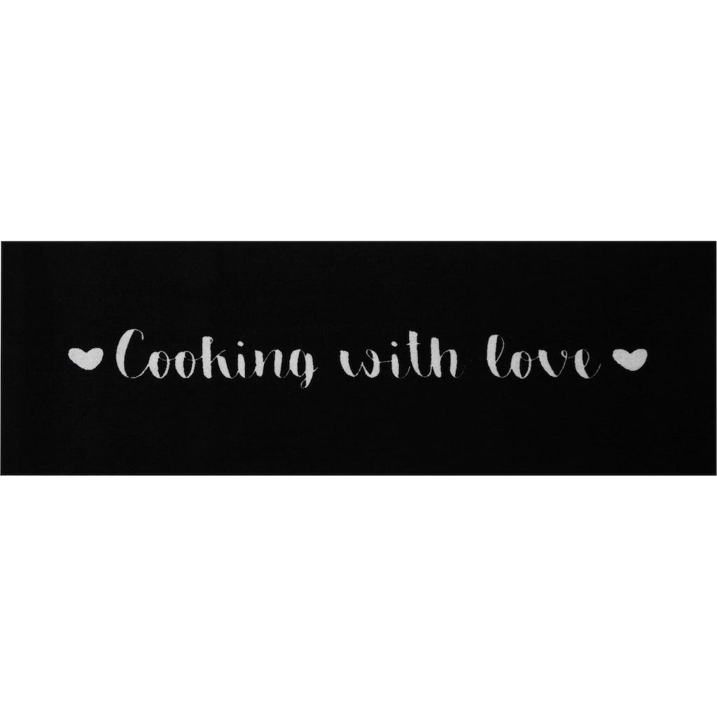 Zala Living Küchenläufer »Cooking Love«, rechteckig, 5 mm Höhe, In- und Outdoor geeignet, waschbar