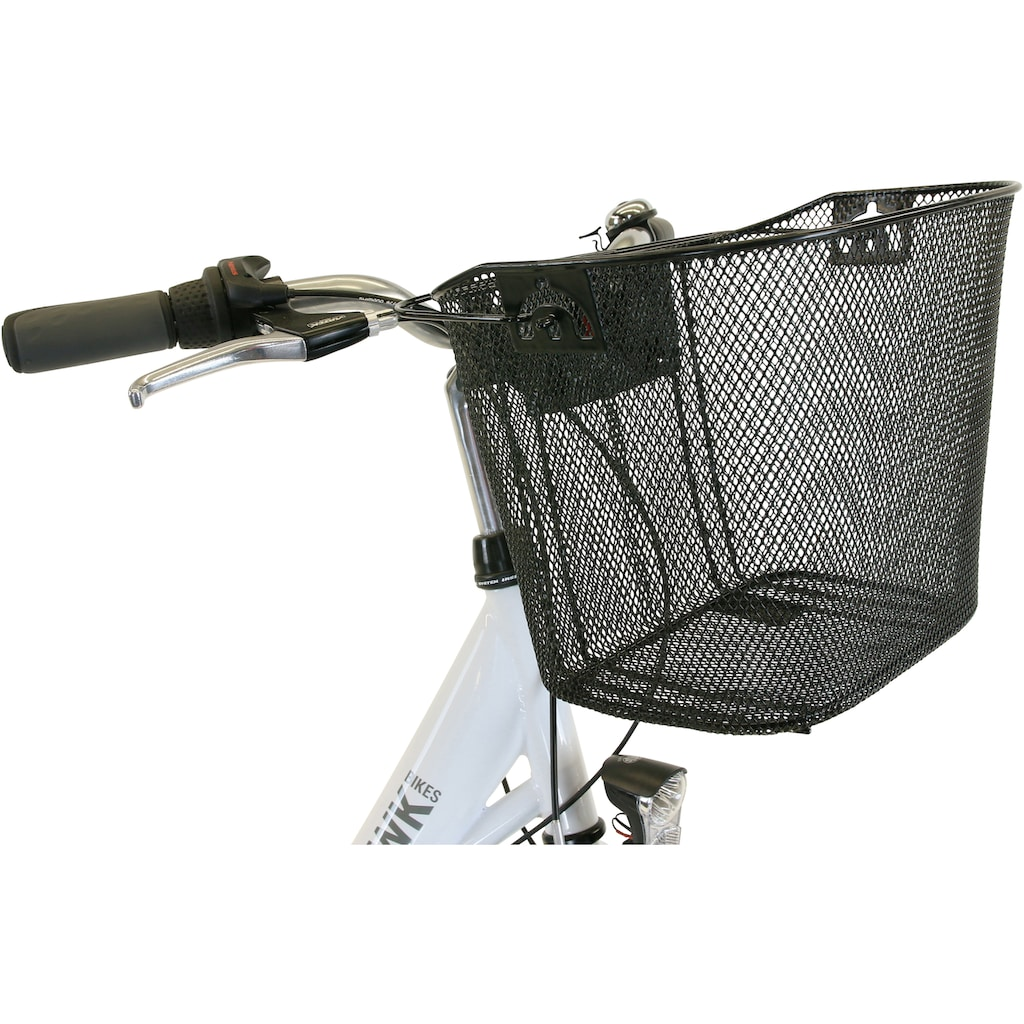 HAWK Bikes Cityrad »HAWK City Wave Premium Plus White«, 3 Gang, Shimano, Nexus Schaltwerk
