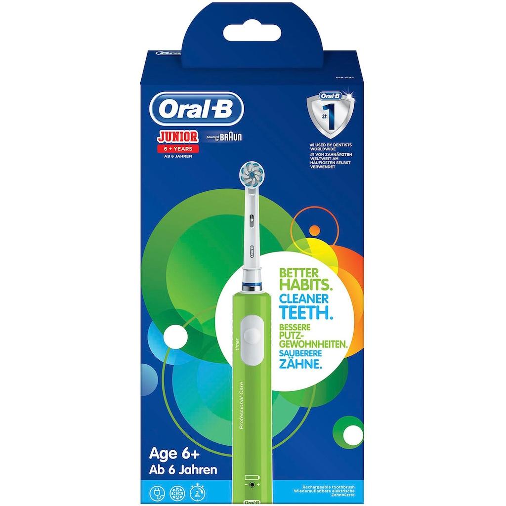 Oral B Elektrische Zahnbürste »Junior Green«, 1 St. Aufsteckbürsten