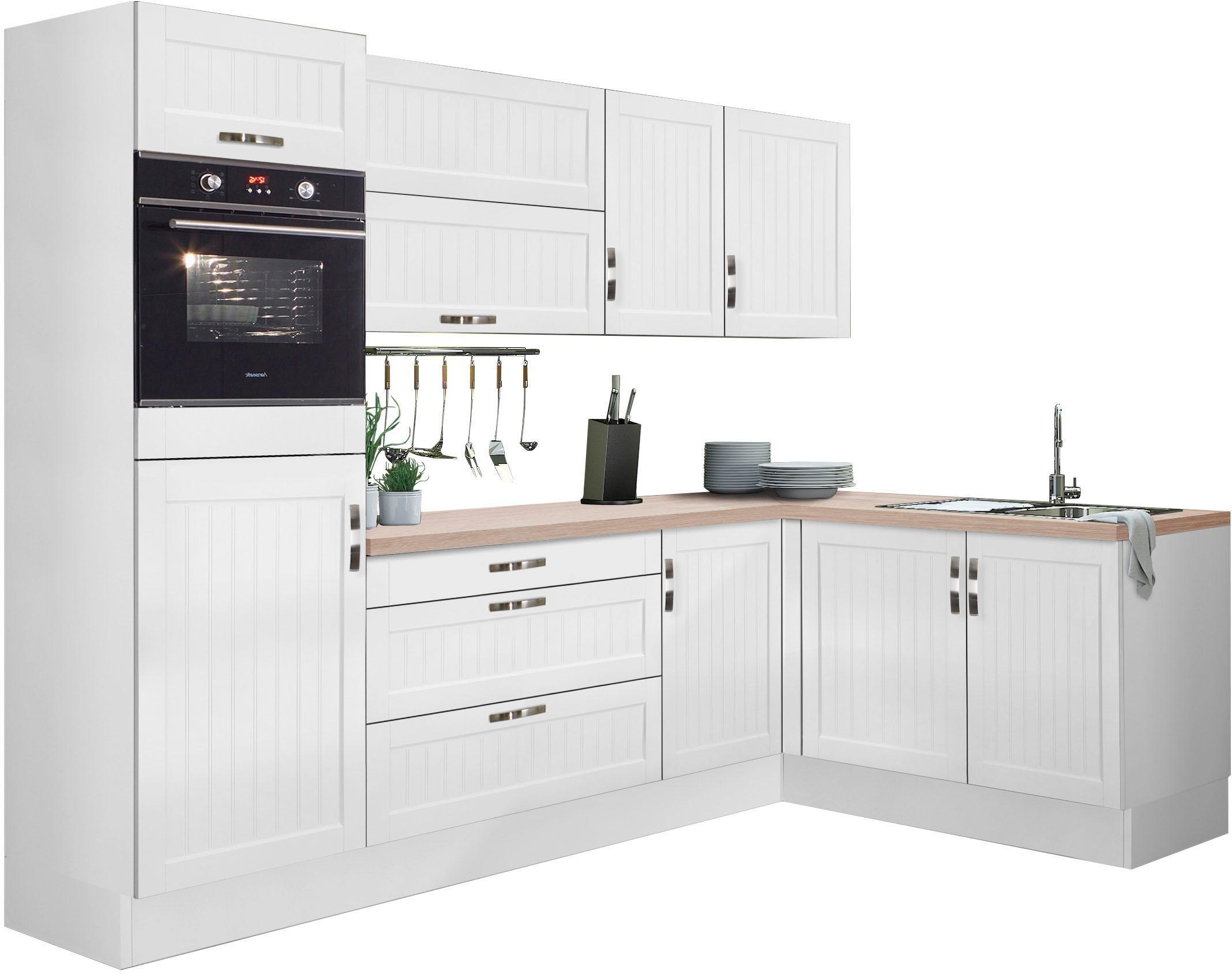 OPTIFIT Winkelküche Cara ohne E-Geräte Stellbreite 265 x 175 cm