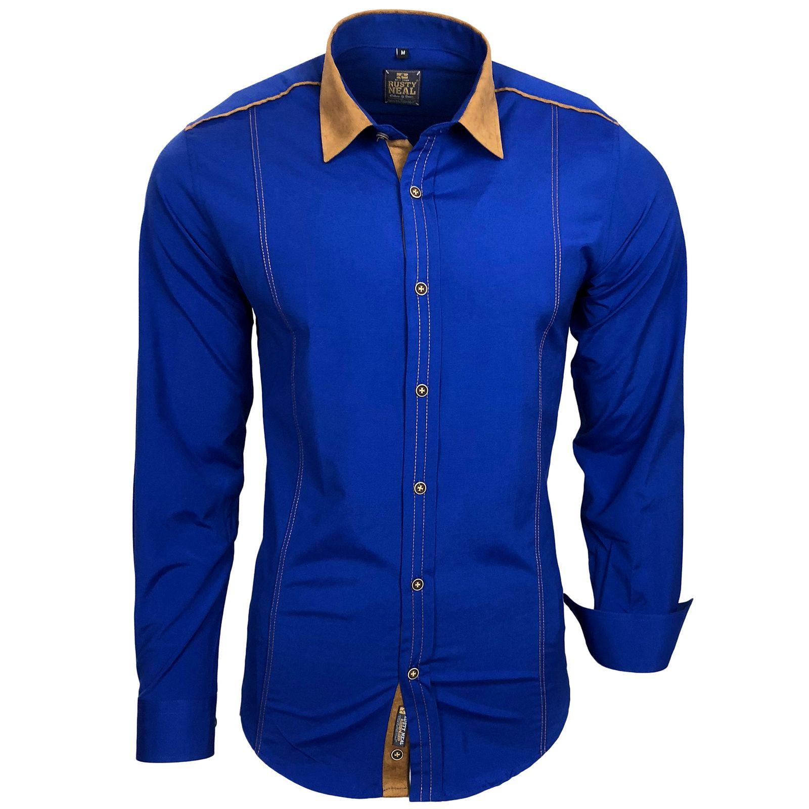 Rusty Neal Freizeit-Hemd mit farblich abgesetztem Kragen | Bekleidung > Hemden > Freizeithemden | Rusty Neal