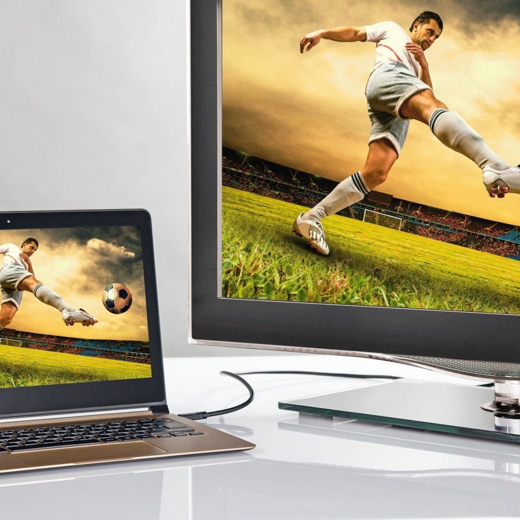 Hama USB-Kabel »USB-Monitoradapter«, 180 cm, für HDMI, Ultra HD, 1,80 m