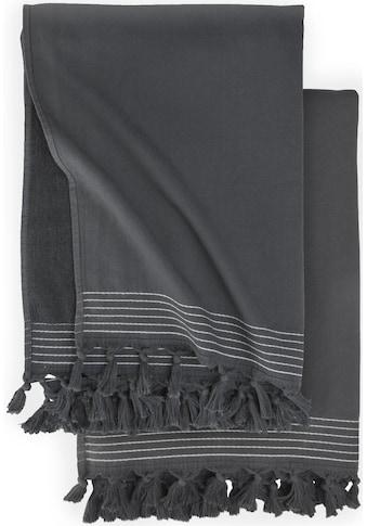 Walra Hamamtücher »Soft Cotton«, (2 St.), mit Fransen kaufen