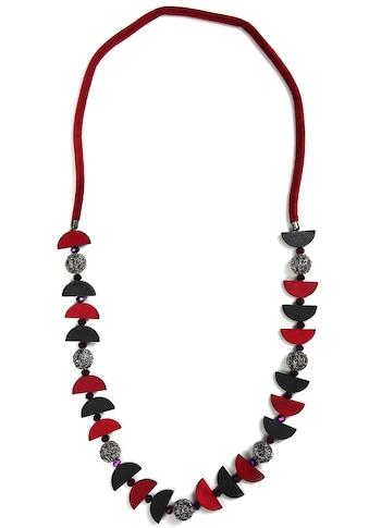J.Jayz Lange Kette »modisches Accessoire mit geometrischen Formen«, mit Glassteinen kaufen