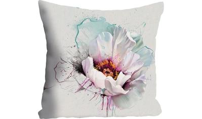 "Kissenhülle ""Blüte"" queence kaufen"