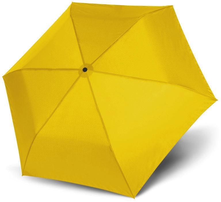 doppler Taschenregenschirm ´´Zero 99 uni Shiny Yellow´´   Accessoires > Regenschirme > Sonstige Regenschirme   Gelb   Doppler