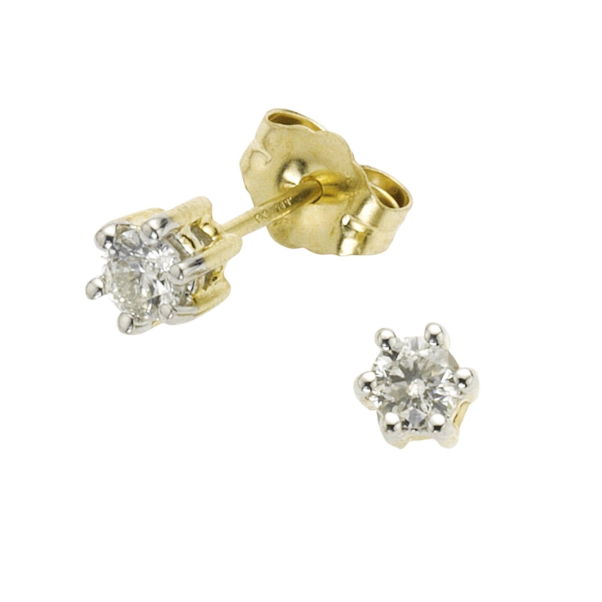 Diamonds by Ellen K Ohrstecker 585/- Gold bicolor Brillant 025ct | Schmuck > Ohrschmuck & Ohrringe > Ohrstecker | Gelb | Diamonds By Ellen K.