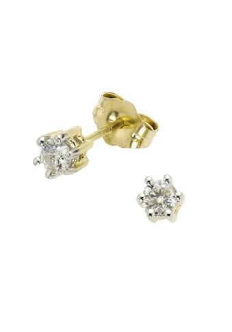 Diamonds by Ellen K. Ohrstecker »585/ -  Gold bicolor Brillant 0,25ct.« kaufen
