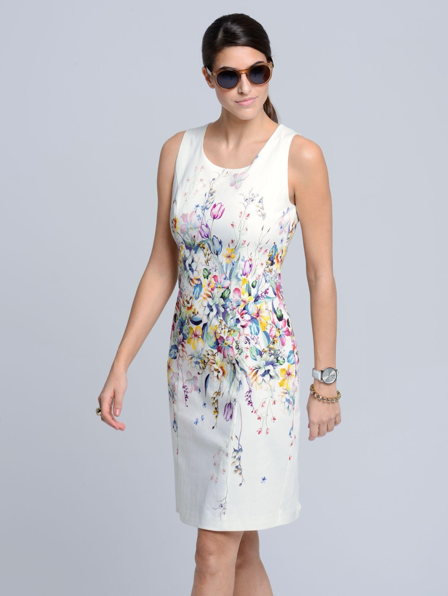 Alba Moda Etui-Kleid im exklusiven Alba Moda-Print