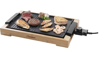 bestron Teppanyakigrill »AG2000BB«, 2000 W, Grillplatte mit Bambusgehäuse,... kaufen