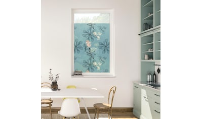LICHTBLICK ORIGINAL Fensterfolie »Fensterfolie selbstklebend, Sichtschutz, Aqua Floral... kaufen