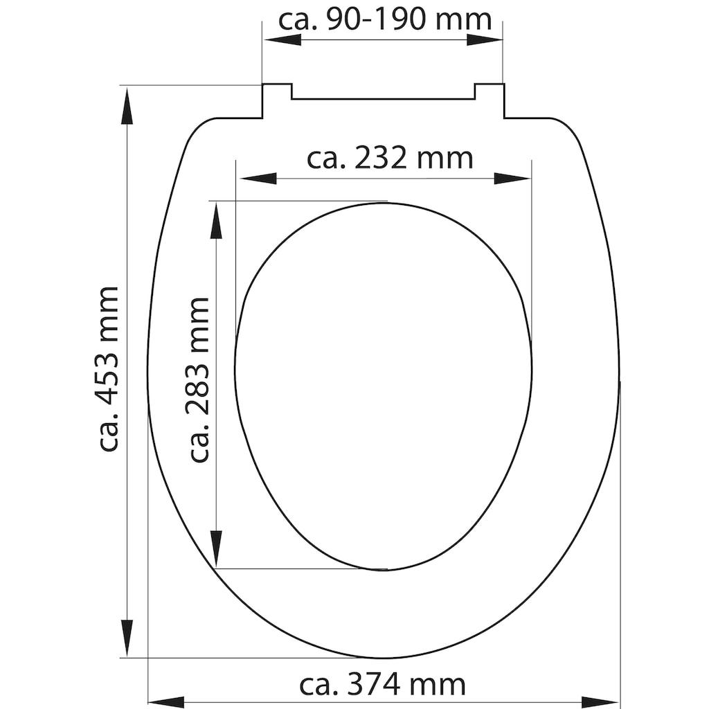 Schütte WC-Sitz »Stone«, mit Absenkautomatik