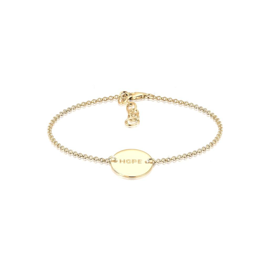 Elli Armband »Hope-Schriftzug 925 Sterling Silber«
