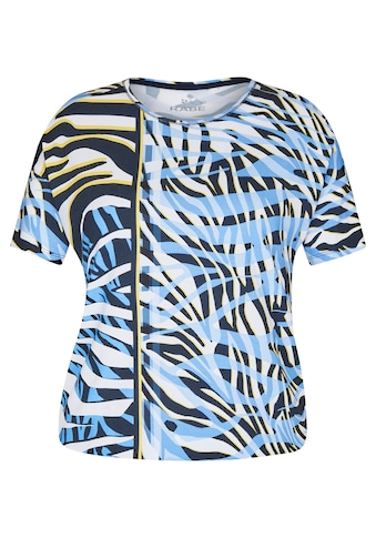Rabe Rundhalsshirt, mit exotischem Muster und überschnittenen Schultern kaufen