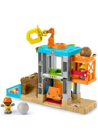 Fisher-Price® Spiel-Gebäude »Little People Baustellen Spielzeug-Set«, mit Kipplaster... kaufen