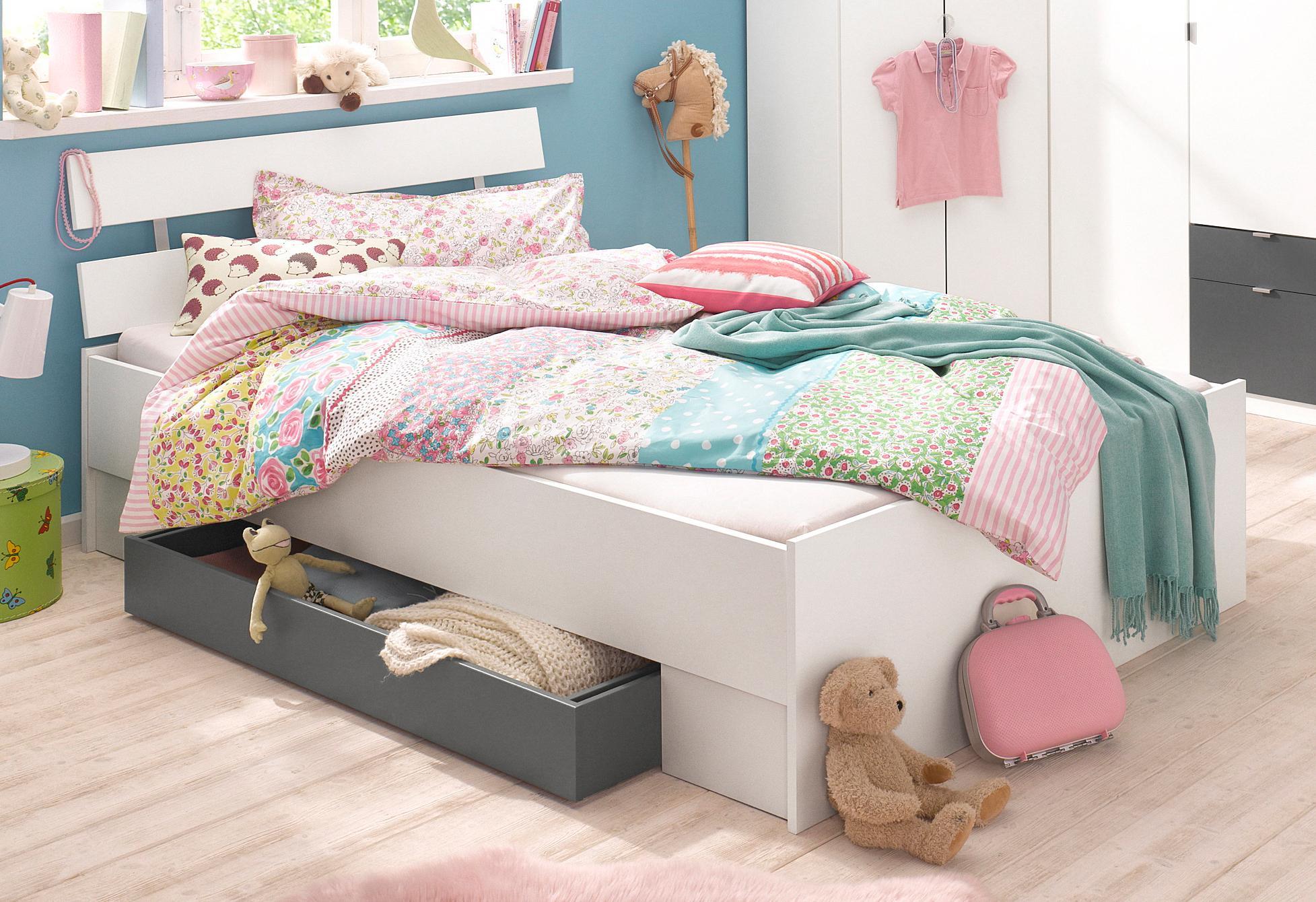 Bett mit Schubkasten