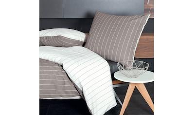 TRAUMSCHLAF Bettwäsche »Artentina Taupe«, bügelfreie Seersucker Qualität kaufen