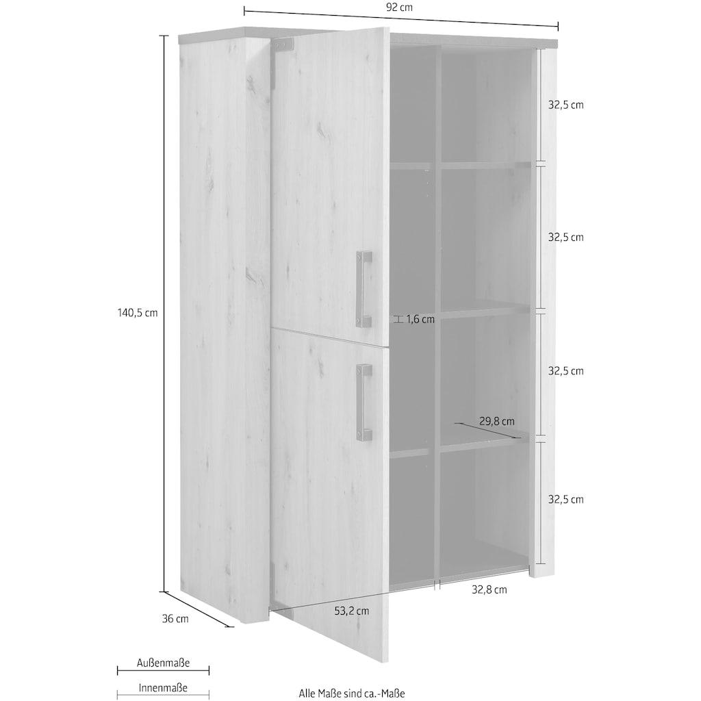my home Highboard »Lazio«, Höhe ca. 140 cm