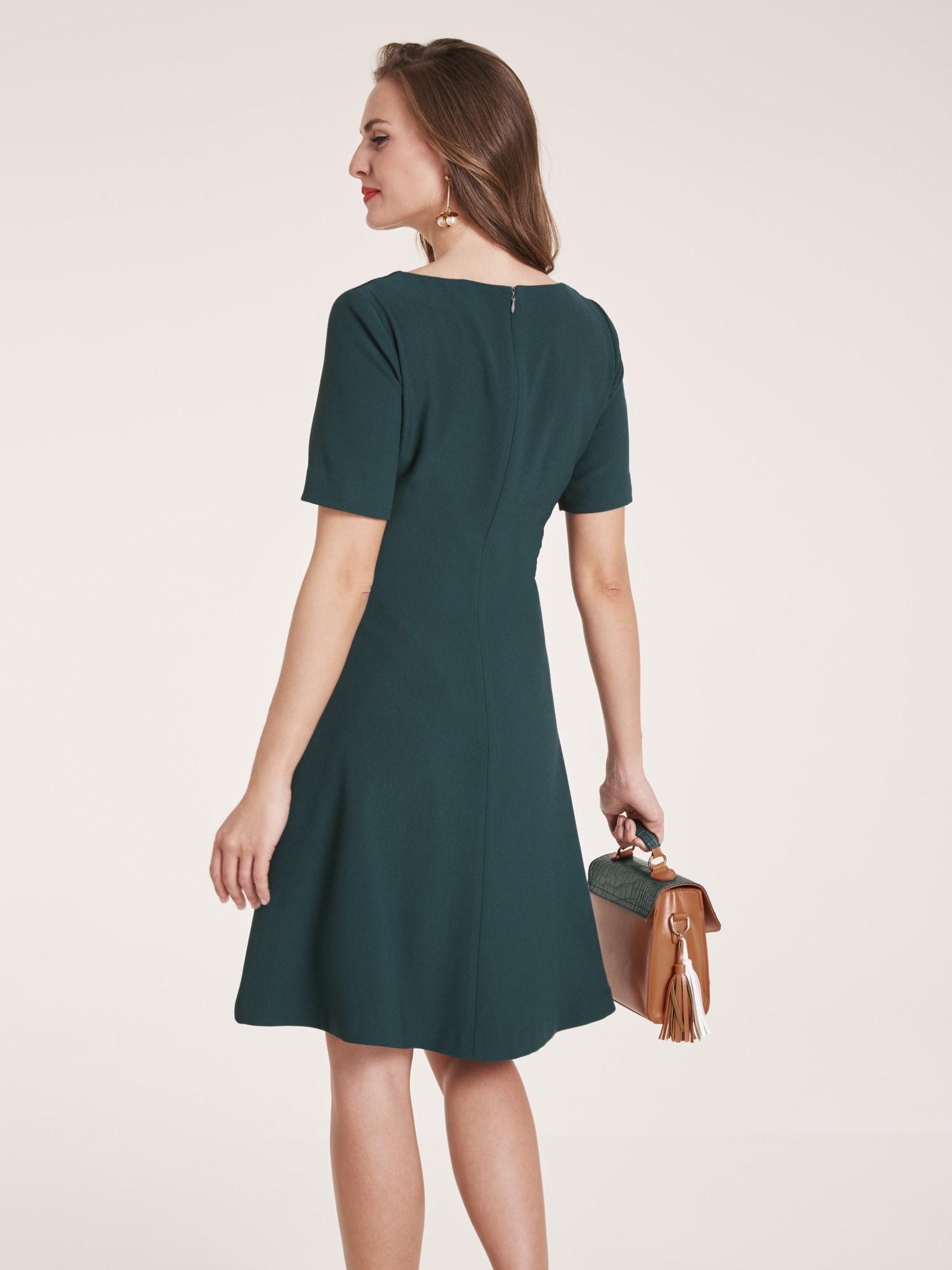 heine TIMELESS Kleid mit Spitzen-Besatz