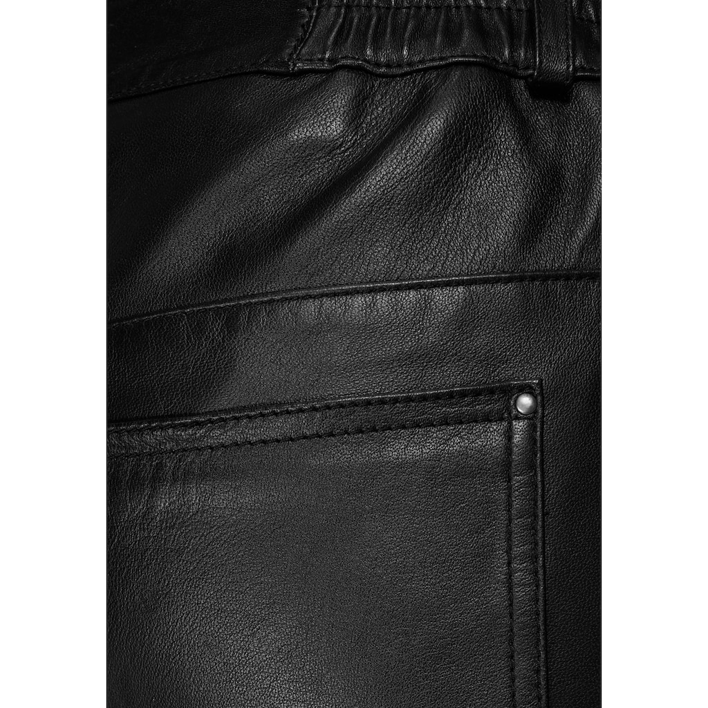 Tamaris Lederhose, im Five-Pocket Look