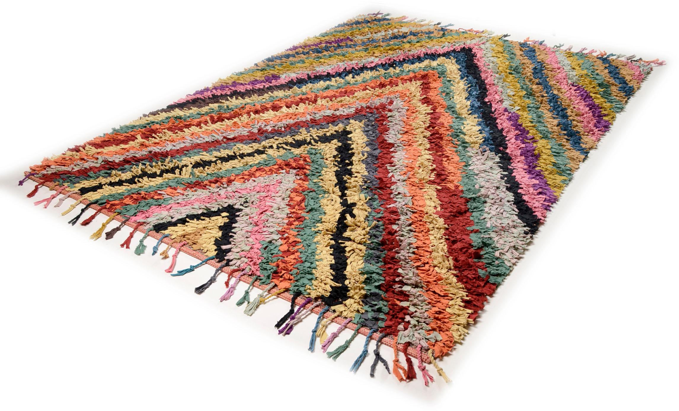 Teppich Vivid Stripes TOM TAILOR rechteckig Höhe 5 mm handgewebt
