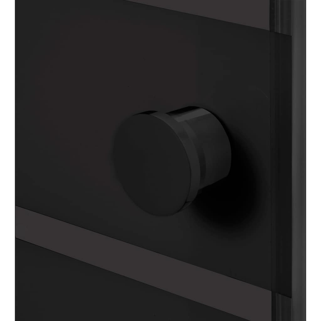 welltime Eckdusche »Trento Black«, variabler Verstellbereich