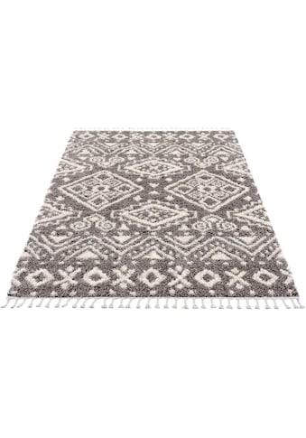 Carpet City Hochflor-Teppich »Pulpy 541«, rechteckig, 30 mm Höhe, mit Fransen, Wohnzimmer kaufen