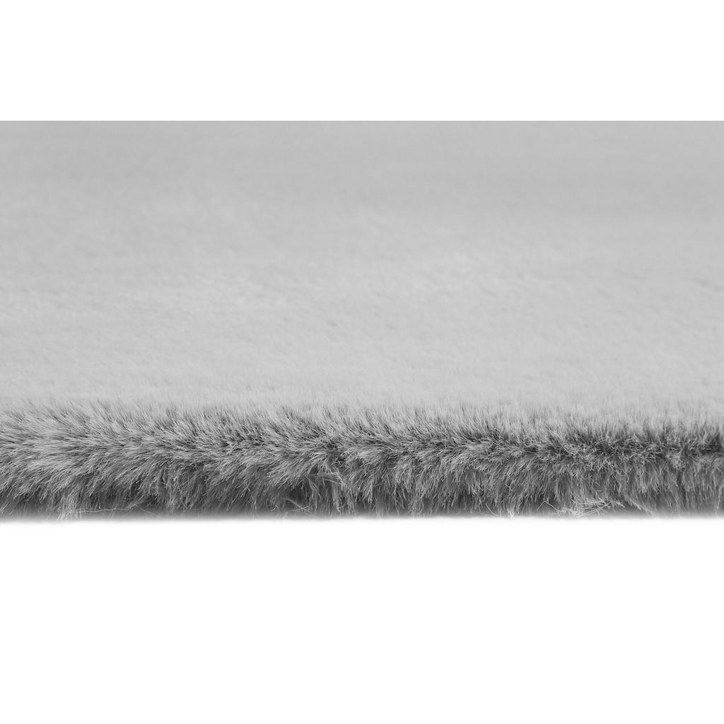 Esprit Hochflor-Teppich »Alice«, rechteckig, 25 mm Höhe, Kunstfell, Kaninchenfell-Haptik, Wohnzimmer