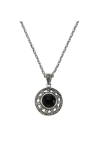 Zeeme Anhänger mit Kette »925/ -  Sterling Silber Achat schwarz« kaufen
