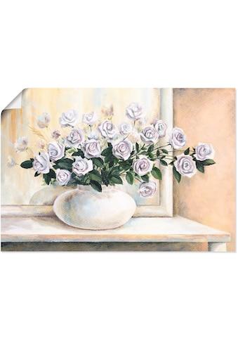 Artland Wandbild »Rosen auf Tisch II«, Blumen, (1 St.), in vielen Größen &... kaufen