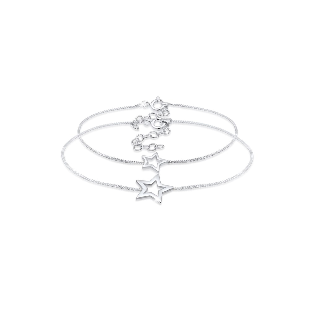 Elli Armband »Set Mutter Kind Sterne Astro Cut Out 925 Silber«