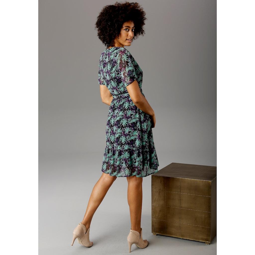 Aniston CASUAL Sommerkleid, mit V-Ausschnitt in Wickeloptik - NEUE KOLLEKTION