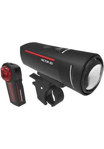 Trelock Fahrradbeleuchtung »LS 600 I-GO VECTOR 60/LS 740 VECTOR REAR SET«, (Front- und... kaufen