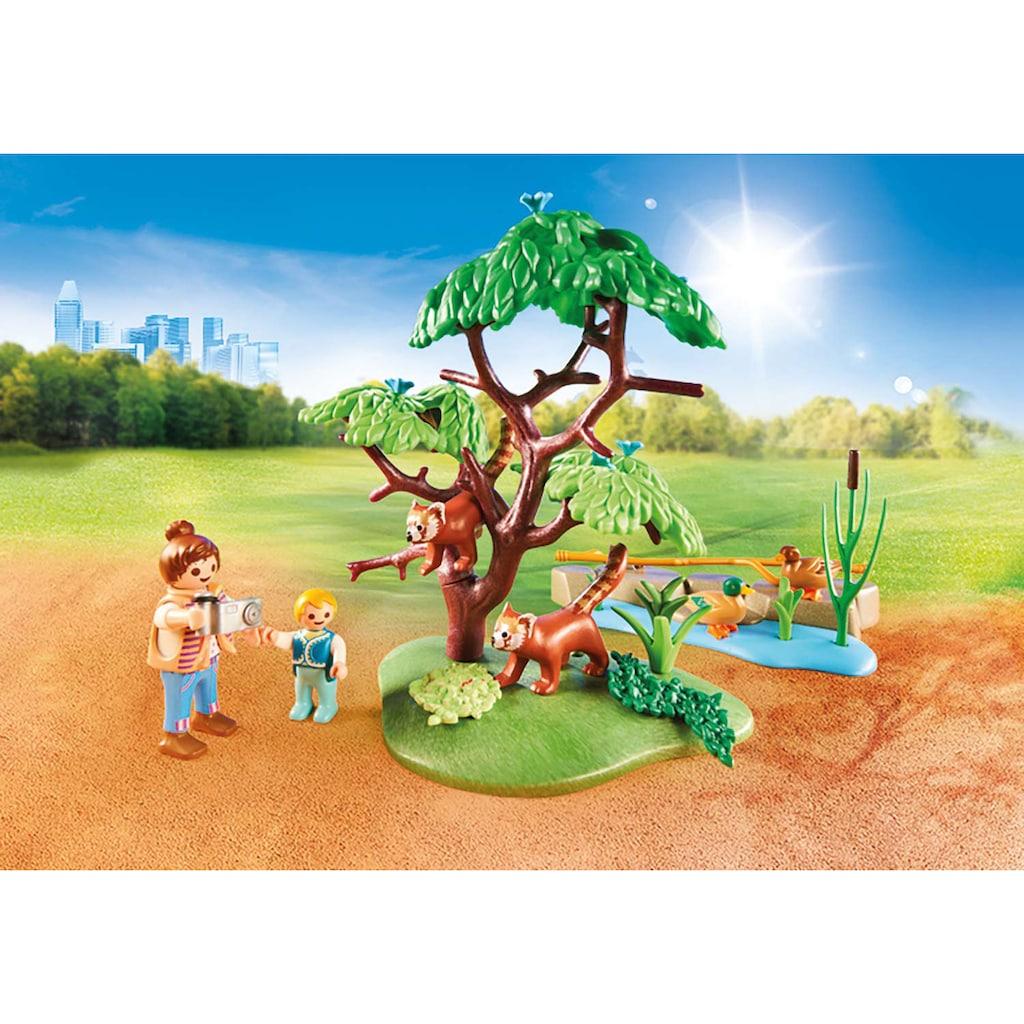 Playmobil® Konstruktions-Spielset »Kleine Pandas im Freigehege (70344), Family Fun«, ; Made in Germany