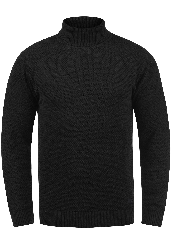 Solid Rollkragenpullover Karlos | Bekleidung > Pullover > Rollkragenpullover | Schwarz | Baumwolle | Solid