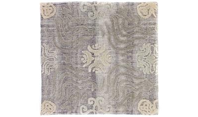morgenland Wollteppich »Designer Teppich handgetuftet mehrfarbig«, quadratisch, 15 mm... kaufen