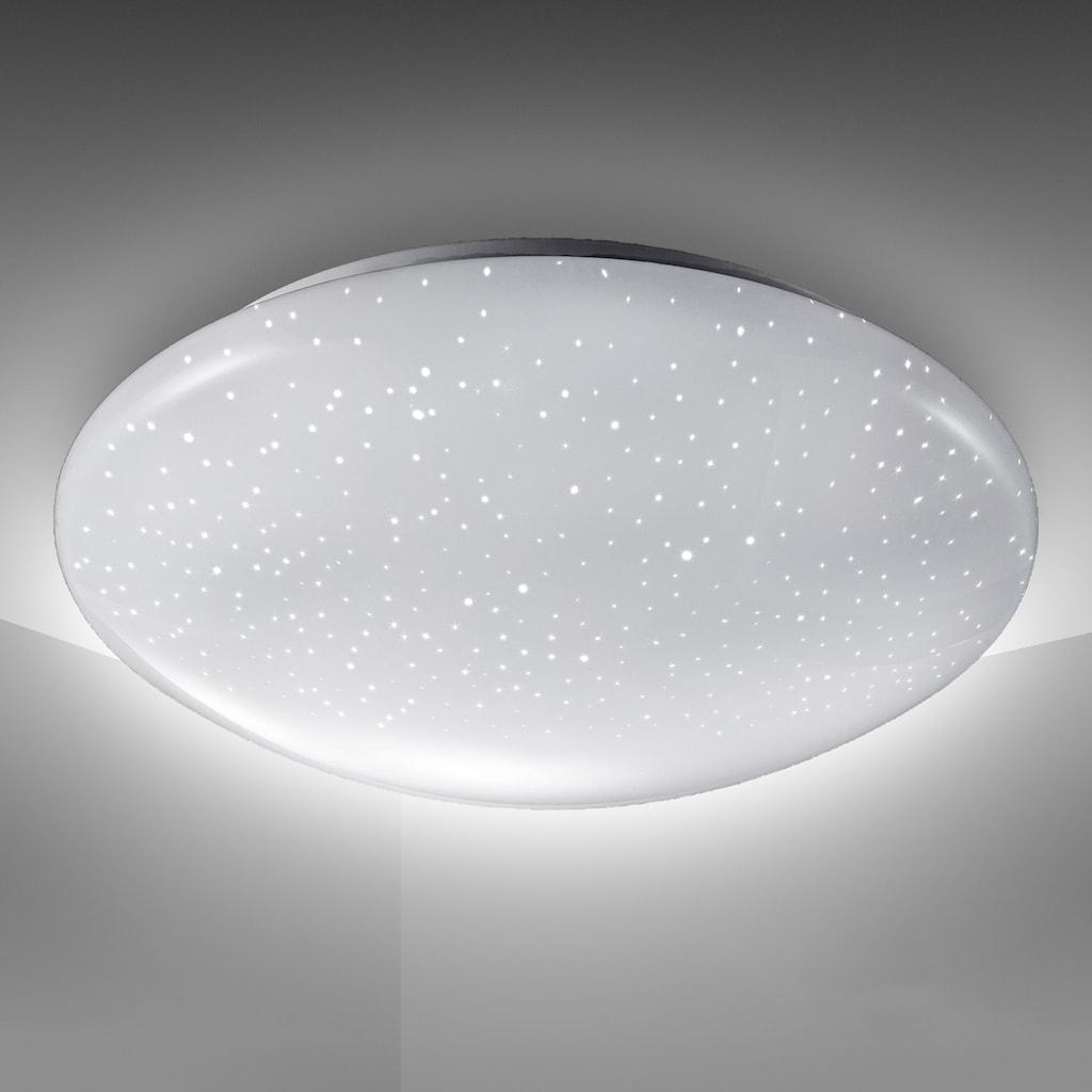 B.K.Licht LED Deckenleuchte »Astro«, LED-Board, Neutralweiß, LED Deckenlampe 12W 1200lm 4.000K Sternenlicht IP20 Ø 280mm
