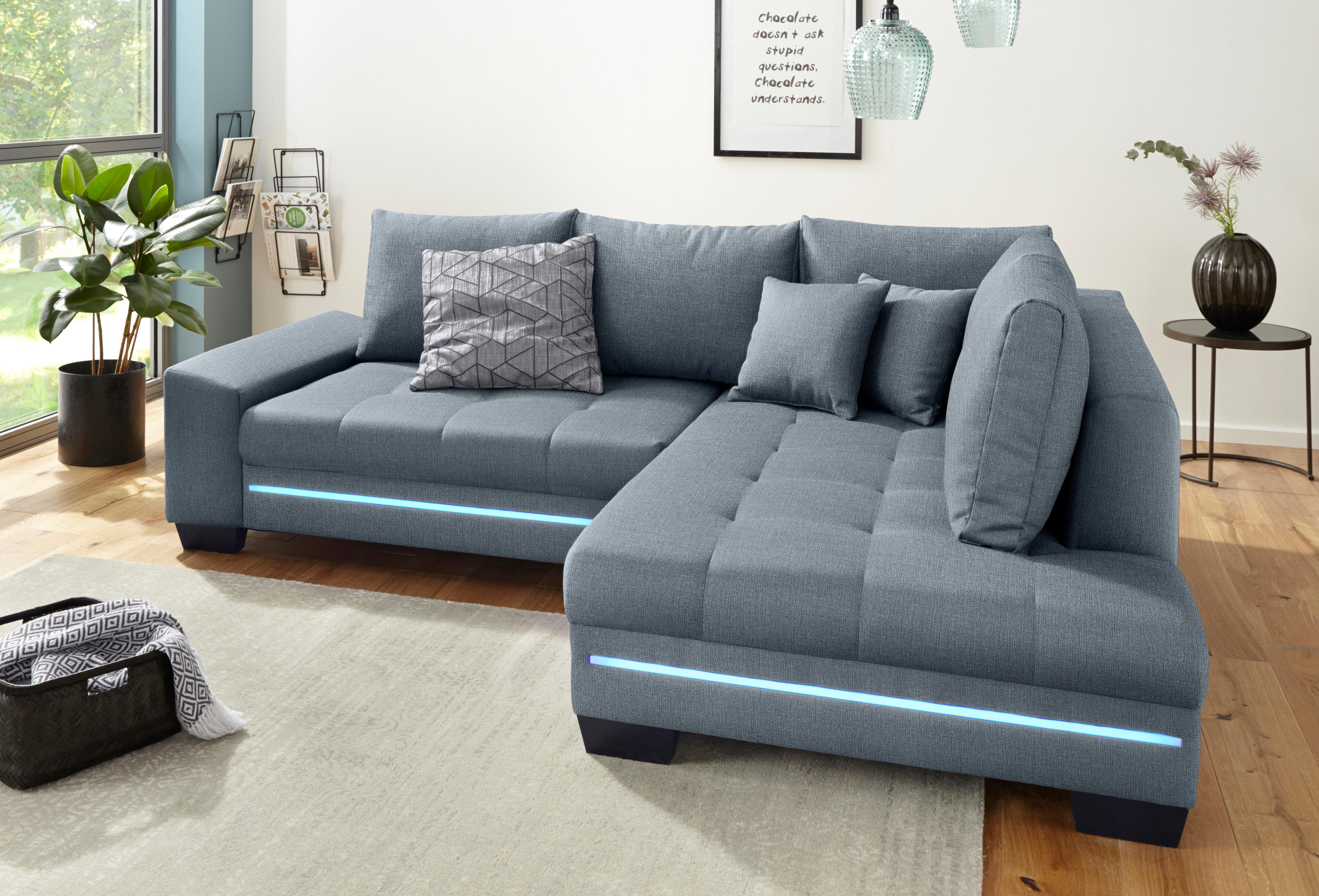 Nova Via Polsterecke, wahlweise mit Bettfunktion | Wohnzimmer > Sofas & Couches > Ecksofas & Eckcouches | Microfaser | NOVA VIA