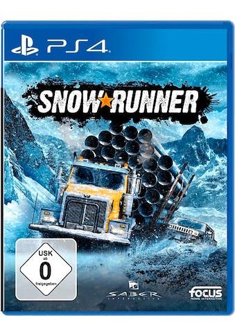 Focus Spiel »SnowRunner: Standard Edition«, PlayStation 4 kaufen
