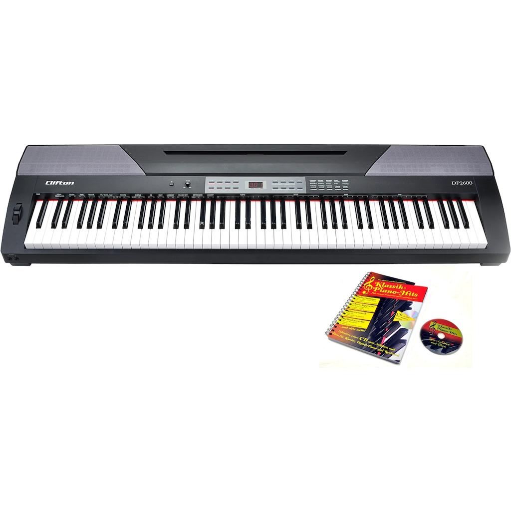 Clifton Stage-Piano »DP2600«, mit 88 gewichteten Tasten