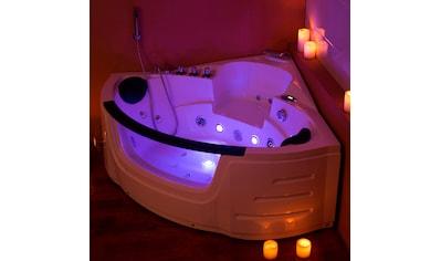 HOME DELUXE Whirlpool-Badewanne »White L Mini«, B/T/H in cm: 135/135/66 kaufen