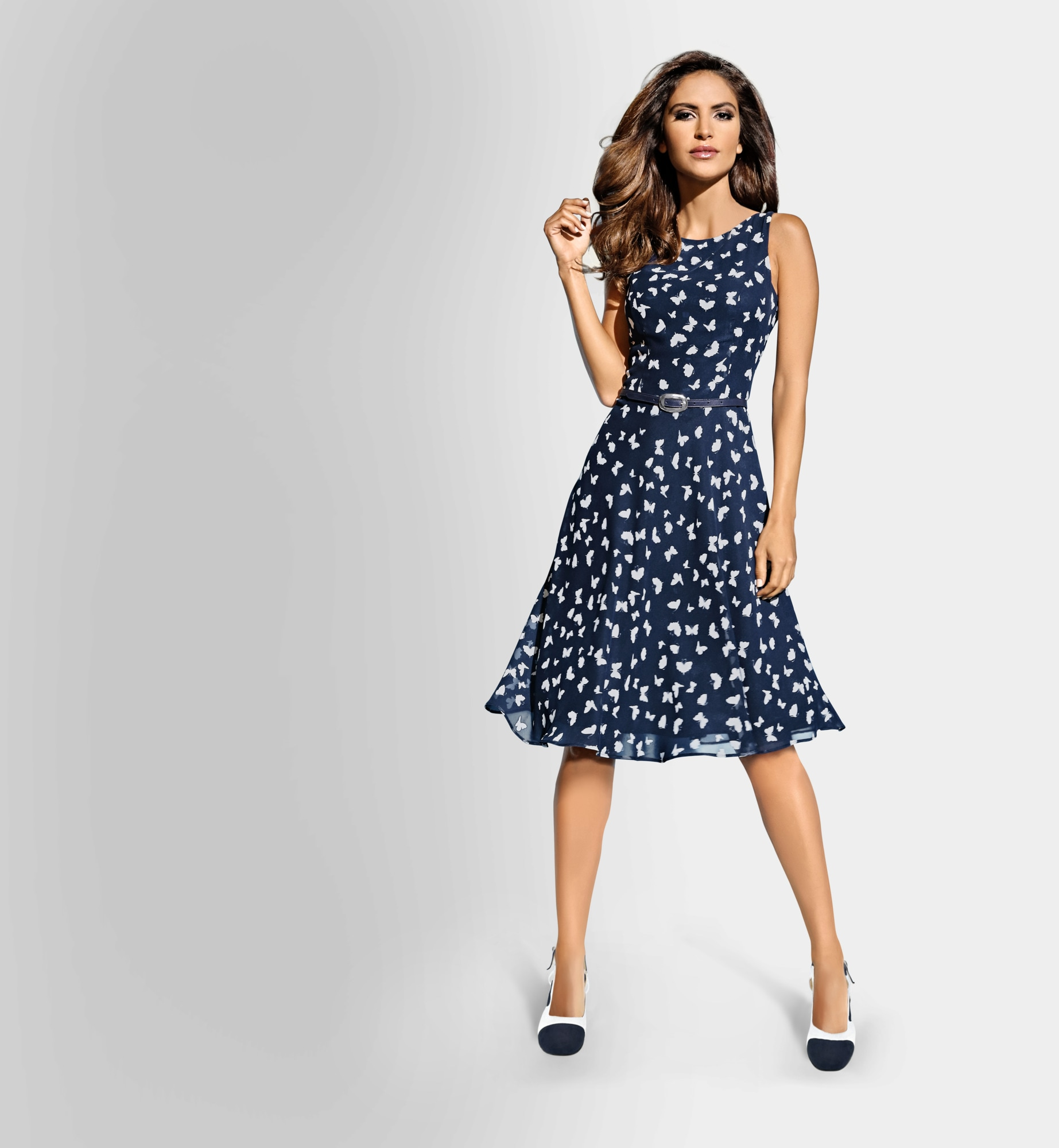 heine TIMELESS Druckkleid Schmetterlingprint
